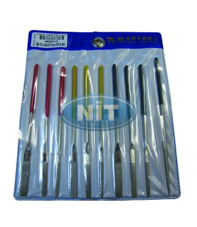Grove File Set 10pcs  (0.73 mm) E12/14, E6.2 - Spare Parts for STOLL Machines Accessories